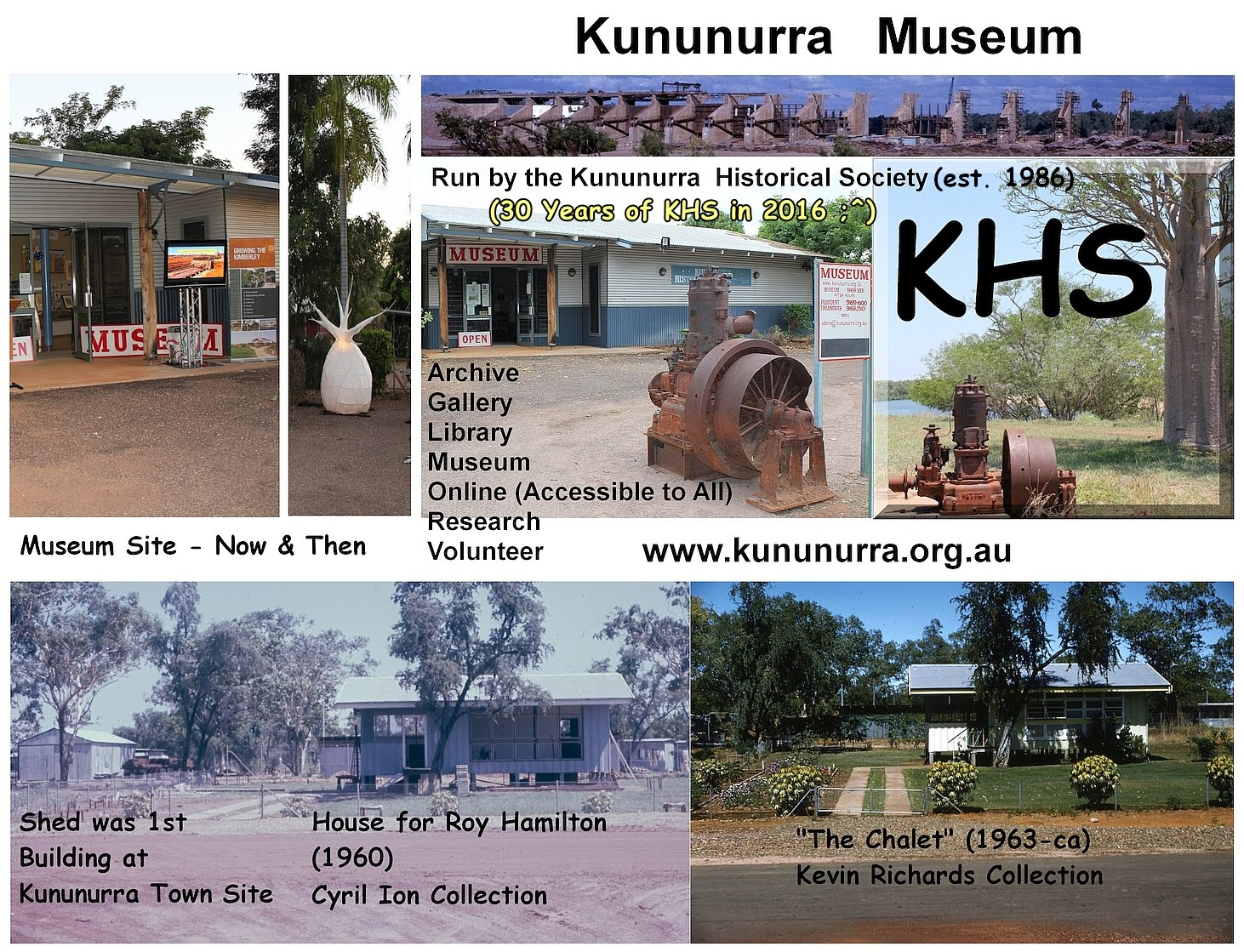 2016-06-05 - 30 Years of KHS - Kununurra Museum site Now (2010s) and Then (1960s) Composite photo montage by AB for KHS