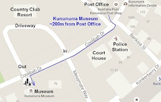 Map to Kununurra Museum