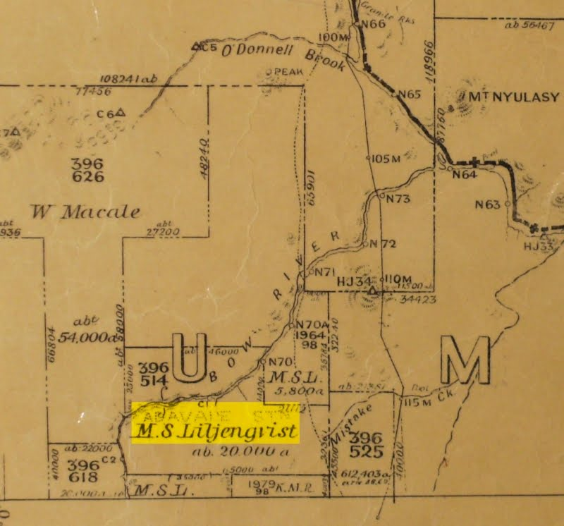 Ada Vale Station - MAP - M.S. Liljengvist-or-Lindquist WA State Records Office (WA SRO) Cancelled Public Plans