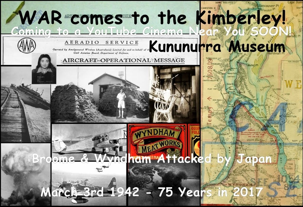 2017-03-03 - 75 Years Since Air Raids in 1942 on Broome & Wyndham_Montage_Aeradio Hut Wyndham Drome - Rod Torrington_Sm