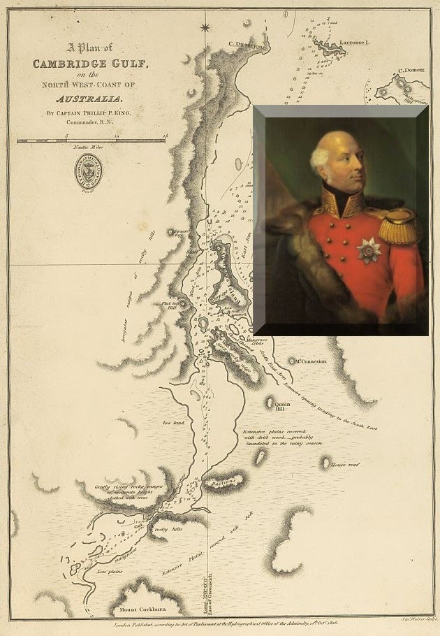1819 - Chart of Cambridge Gulf and Adolphus Island named by Philip Parker King with Adolphus the Duke of Cambridge (Inset) next to Adolphus Island